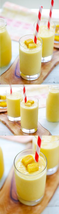Mango Lassi - a rich, popular Indian smoothie with fresh mango, yogurt and honey. A super easy recipe that is better than restaurant's.   rasamalaysia.com