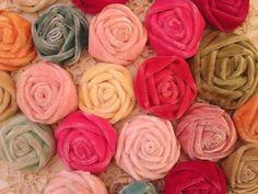 Vintage French Velvet Roses!