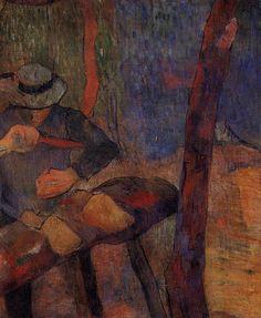 The clog-maker, 1888, Paul Gauguin