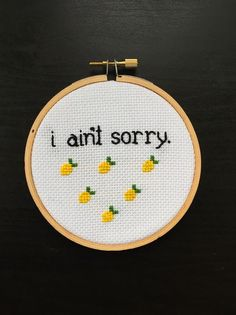 4 I Ain't Sorry Beyonce Lemonade Cross Stitch by StitchWitchAndCo