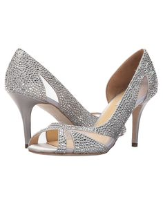 Benjamin Adams London; Catherine Catherine; stunningly beautiful crystal encrusted peep toe, the on-trend clear mesh detailing and open waisted side set off with dazzling crystal absolutely makes this a statement bridal shoe.