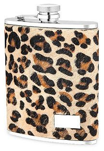 Leopard Print Genuine Leather Flask on shopstyle.com