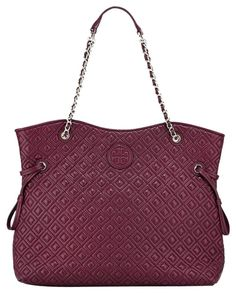 c6ea11847 Marion Red Agate Quilted Slouchy Burgundy Leather Tote. Tradesy