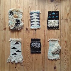 Collection of small tapestries I made while traveling in the Balkans.