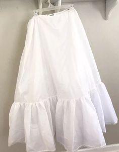 77329a39b0f2 Merry Modes Size 6 White 4 Layer Petticoat/ Slip Wedding #fashion #clothing  #