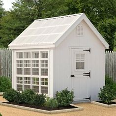 Little Cottage 8 x 8 ft. Colonial Gable Greenhouse with Optional Floor Kit | Google Shopping Vista Garden, Landscape Timbers, Little Cottages, Roof Trusses, Transom Windows, Exterior Trim, Shed Design, Dog Houses, Building Materials