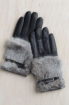 356ba7c2c Women's Magnolia Lambskin Leather Gloves with Rabbit Fur Trim | Overland  Lambskin Leather, Leather Gloves