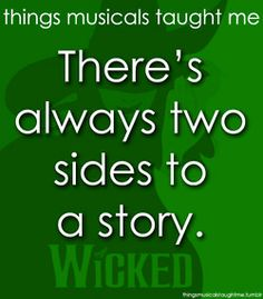 Things Musicals Taught Me... might have pinned this already.... oh well