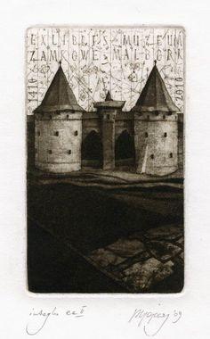 Ex libris Muzeum Zamkowe Malbork by Piotr Gojowy (Polish), 2009
