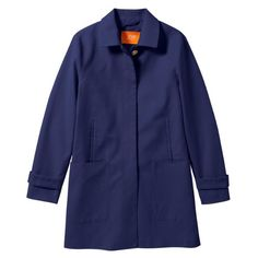 NWT Joe Fresh Mac coat dark blue medium New with tags ✨ has an extra button, has an orange detail underneath the collar, satin like on the inside of the sleeve, no flaws, no trades Joe Fresh Jackets & Coats Trench Coats