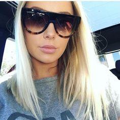 9d3f6ddce7 FuzWeb Fashion Ladies Oversized Cat Eye Sunglasses Women Vintage Luxury er  Big Frame Tom Female
