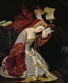 May Anne Boleyn, Queen of England, is arrested and imprisoned. Anne Boleyn in The Tower, by Édouard Cibot Anne Boleyn, Mary Boleyn, Tudor History, British History, Art History, European History, History Images, Family History, Wives Of Henry Viii