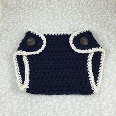 Crochet Diaper Cover Handmade Little Sailor by ForLittlePaws Awesome baby shower gift