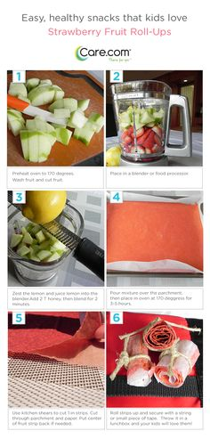 Making delicious and healthy fruit roll-ups!