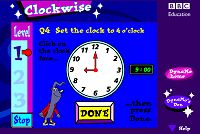 """This is an image from this resource on the """"Second Grade Math help on standardized tests, telling time"""" resource page: ClockWise Game. Select level to practice telling time. Fun Math, Math Games, Math Activities, Math Help, Teaching Time, Student Teaching, Teaching Ideas, Telling Time Games, Second Grade Math"""