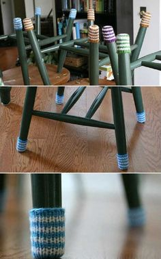 These little socks for chairs will not only protect your floors and also add a little color to your space.