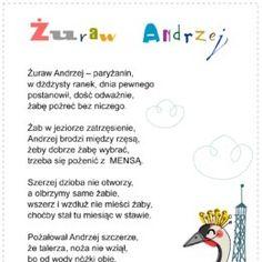 Kolorowanki, ćwiczenia, karty do wydrukowania. - Printoteka.pl Poland Language, Kids And Parenting, Languages, Kids Learning, Humor, Education, Speech Language Therapy, Idioms, Humour