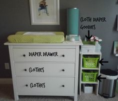 Cloth Diaper Changing Table Set Up Inspiration To Your Station