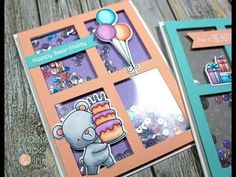 MFT Beary Special Birthday Shaker Cards | Copic Markers - YouTube