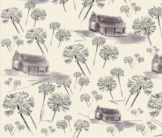 Agapanthus Plants -  fabric by andreart on Spoonflower - custom fabric  #decor  #textile