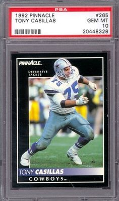 1992 Pinnacle #265 Tony Casillas Cowboys PSA 10 pop 5 by Pinnacle. $6.00. 1992 Pinnacle #265 Tony Casillas Cowboys PSA 10 pop 5. If multiple items appear in the image, the item you are purchasing is the one described in the title.