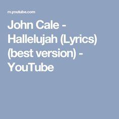 John Cale - Hallelujah (Lyrics) (best version) - YouTube