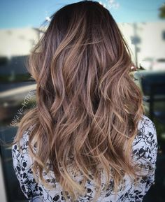 Brown+Layered+Wavy+Ombre+Hair