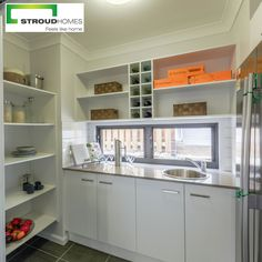 Check out this amazing Butlers Pantry filled with natural light. Will you be putting a Butlers Pantry in your new home? #butlerspantry #stroudhomes #feelslikehome #living #kitchen
