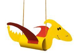 Flugsaurier zum Basteln: Bastelvorlage