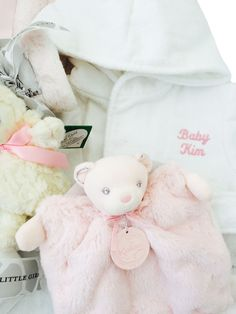 Honey bunny boy honey bunny bunny and blanket personalized baby gift basket white velour terrycloth bathrobe little giraffe luxe burp cloth negle Gallery
