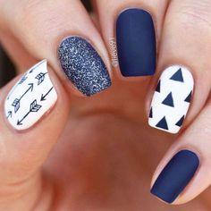 pretty nails for winter ~ pretty nails ; pretty nails for summer ; pretty nails for winter ; pretty nails for spring ; Manicures, Gel Nails, Acrylic Nails, Coffin Nails, Marble Nails, Nail Polish, New Nail Designs, White Nail Designs, Navy Nails