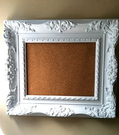 DIY idea: frame with cork board background