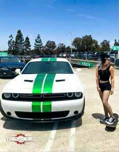 Preppy Car Accessories, Mopar Girl, New Luxury Cars, American Muscle Cars, American Auto, Girl Senior Pictures, Cute Cars, Dodge Challenger, Car Girls