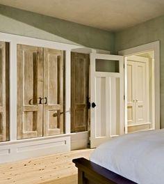 Traditional Bedroom Photos Closet Design, Pictures, Remodel, Decor and Ideas - page 2 Wardrobe Design Bedroom, Master Bedroom Closet, Master Bath, Comfy Cozy Home, Rustic Closet, Wooden Closet, Closet Doors, Hall Closet