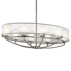 Oval Chandeliers: Saldana Oval Chandelier by Kichler,Lighting