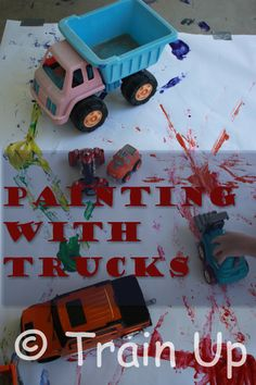 Paint with trucks for your next transportation unit.