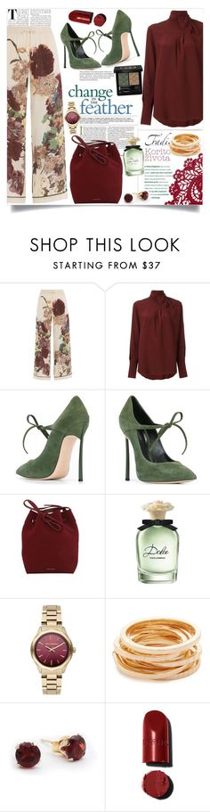 """La Vida Loca"" by fashionaddict-il ❤ liked on Polyvore featuring Valentino, Chloé, Casadei, Mansur Gavriel, Dolce&Gabbana, Karl Lagerfeld, Kenneth Jay Lane and Gucci"