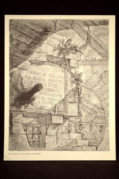 Piranesi Architectural Print Etching Prison Book Plate