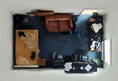 意外な面白さ!いろいろなお部屋を真上から見る – Room Portraits –