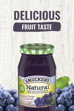 Smucker's® Natural Concord Grape Fruit Spread is made without high fructose corn syrup. Tap the pin to Buy Now and enjoy the delicious fruit taste. Cube Steak Recipes, Barbecue Recipes, Ground Beef Recipes, Flower Tortilla Recipe, Thin Chicken Cutlet Recipes, Ham And Cheese Sliders Hawaiian, Easy Mac And Cheese, Stuffed Baked Potatoes, Morning Drinks