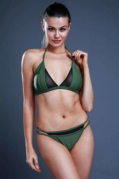 Cobunny offers Army Green Mesh Panel Strappy Bralette Halter Brazilian Bikini Set – Cobunny for $14.99, Free shipping, found by tyler00822 on 3/28/18.