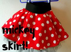 diy mickey/minnie skirt....could use striped fabric to turn into pirate skirt