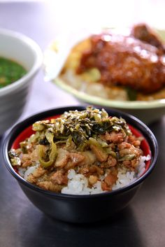 Taiwanese Braised Pork Rice with Pickled Mustard Greens | Taiwanese Food 滷肉飯