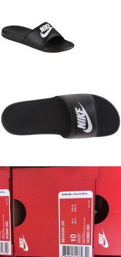 57d0c021d766 Sandals 11504  Nike Benassi Jdi Men S Slide Black White Slippers Size 10  Brand New In Box -  BUY IT NOW ONLY   23.95 on  eBay  sandals  benassi   slide ...