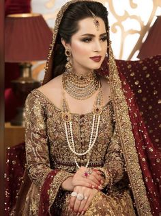 Nov 2019 - Latest Pakistani Designers Bridal Dresses & Embroidery Collections, Wedding Lehenga, Sharara best price for every woman Shop from our Elegant Asian Bridal Dresses, Bridal Mehndi Dresses, Pakistani Wedding Outfits, Indian Bridal Outfits, Bridal Dress Design, Indian Bridal Makeup, Wedding Dresses For Girls, Pakistani Dresses, Bengali Makeup