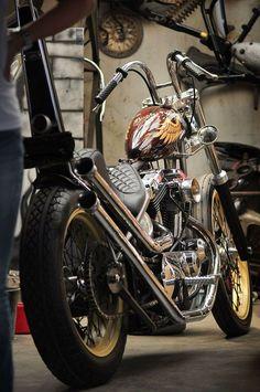 "custombikeworld: ""http://bikerplanet.com/social "" Harley-Davidson chopper #harleydavidsonbobberscustomchoppers"