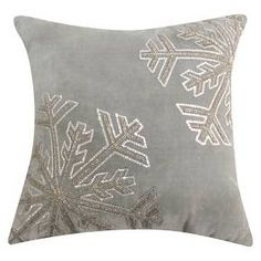 Threshold™ Grey Snowflake Toss Pillow