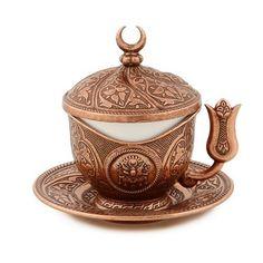 Copper Turkish Coffee Cup Tulip Holder Design