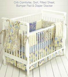 Kwik Sew Crib Comforter, Skirt, Fitted Sheet, Bumper Pad & Diaper Stacker Pattern