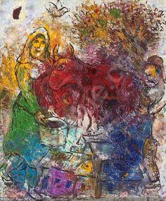 Chagall Marc - Les paysans, Paris - 1964